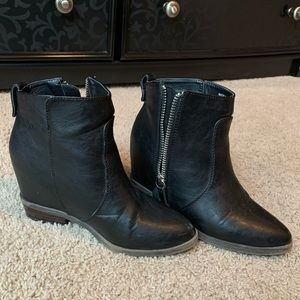 Forever 21 Black Heeled Booties